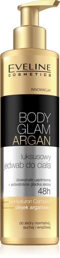 luksusowy jedwab do ciała Body Glam Argan, Eveline Cosmetics, jedwab do ciała