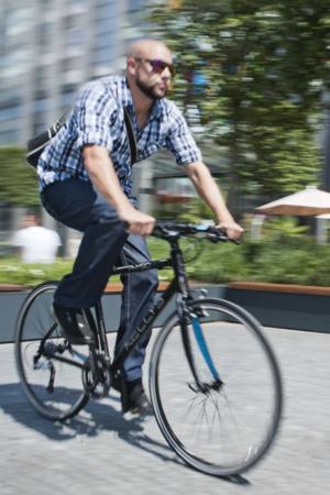 do pracy rowerem