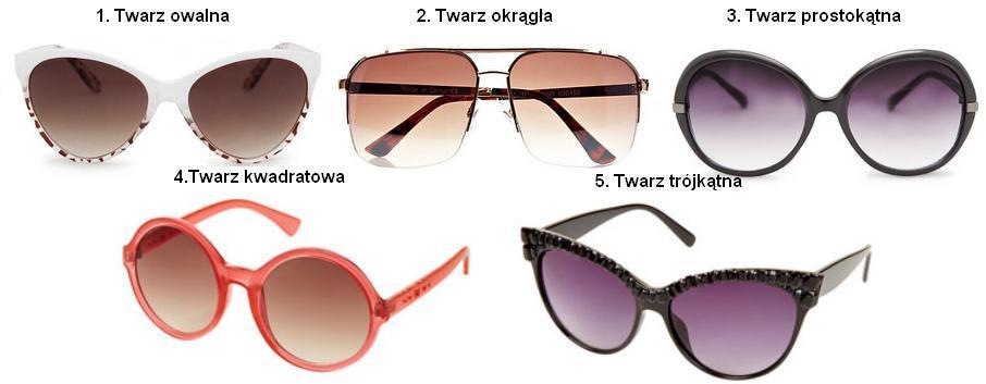 Przeciwsłoneczne I Idealne Dobierz Okulary Do Kształtu Twarzy