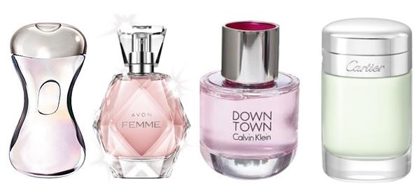 perfumy na randkę, Calvin Klein Downtown, Avon Femme, Azzaro Now Women, Baiser Volé Cartier