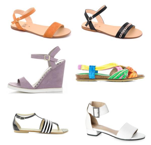 sandały na koturnie, sandały damskie