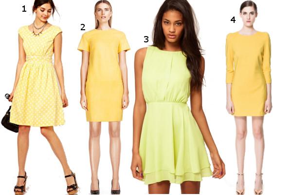 421a17e1cb Nasze propozycje  1. żółta sukienka w białe groszki Asos ok. 235 zł