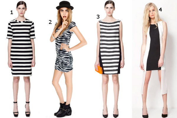 0f4c782761 Nasze propozycje  1. sukienka w czarno-białe paski Zara ok. 150 zł