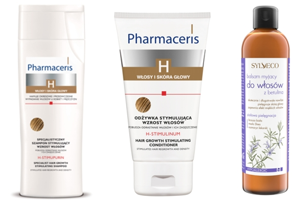 szampon na porost wlósów, Pharmaceris H, Sylveco balsam do włosów z betuliną
